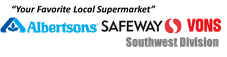 """Your favorite local supermarket"" Albertsons Safeway Vons Southwest Division"
